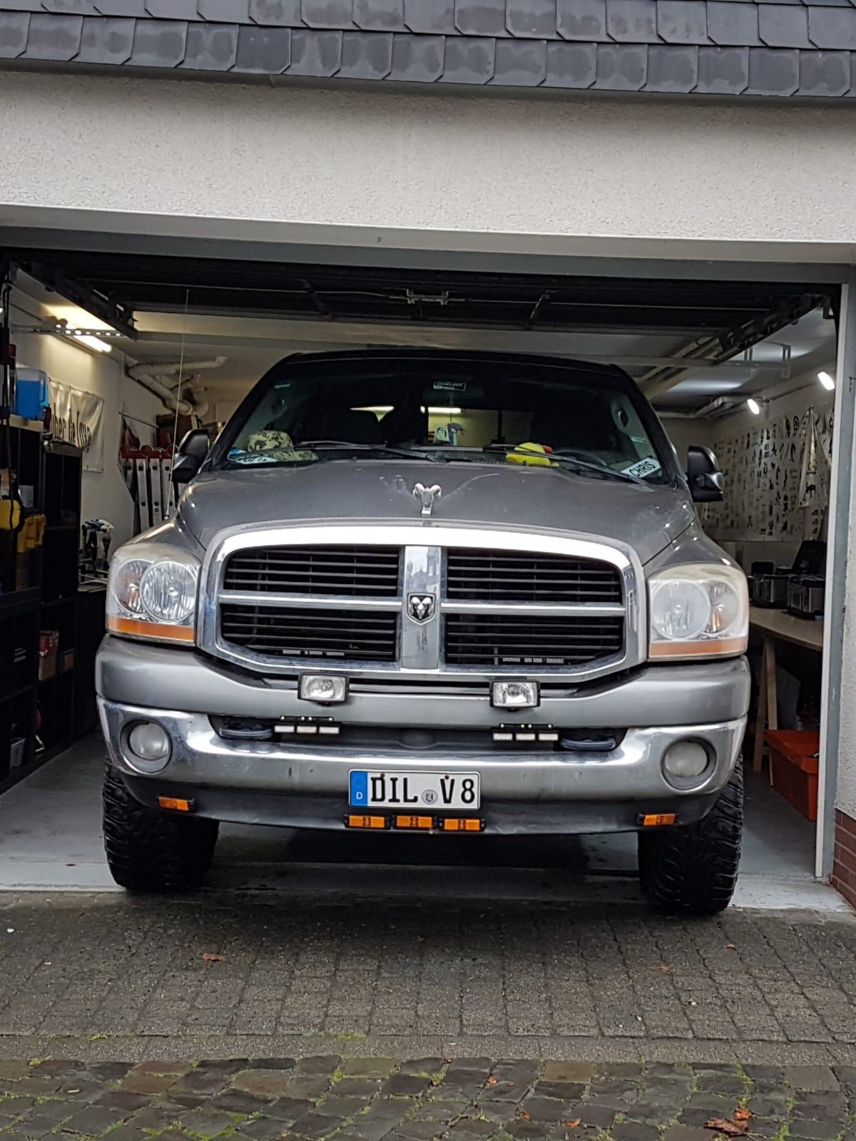 Widder in der Garage